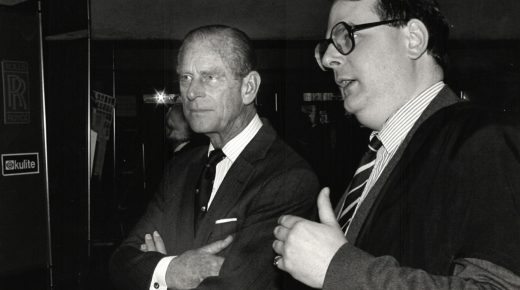 Prince Philip with Roger Ainsworth